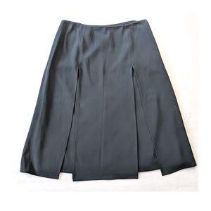 DANA BUCHMAN Navy Paneled A Line Skirt